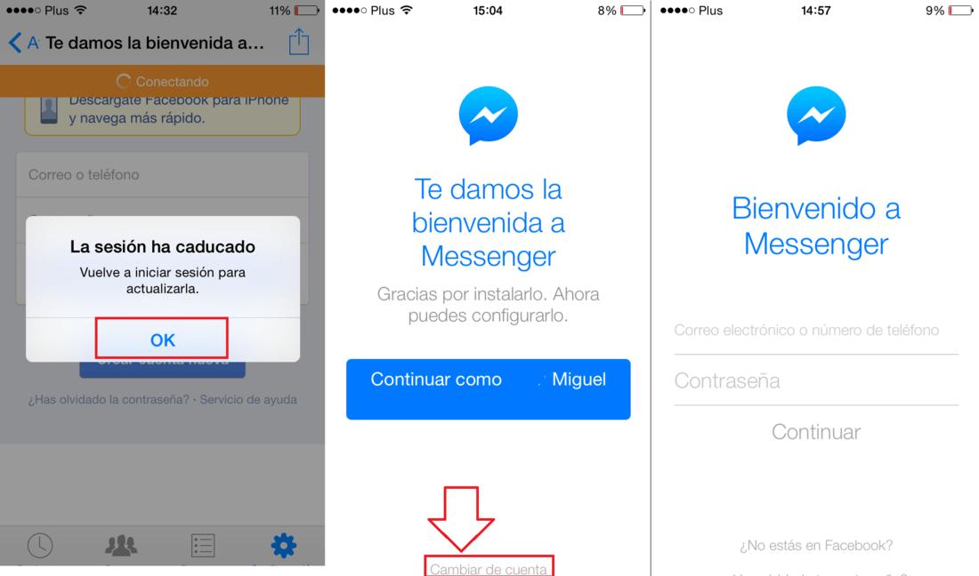 messenger iniciar sesion chat sevilla