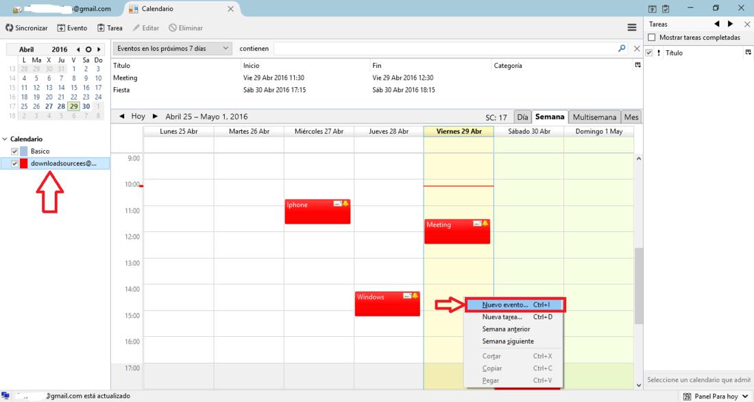 Sincronizar Google Calendar con Mozilla Thunderbird
