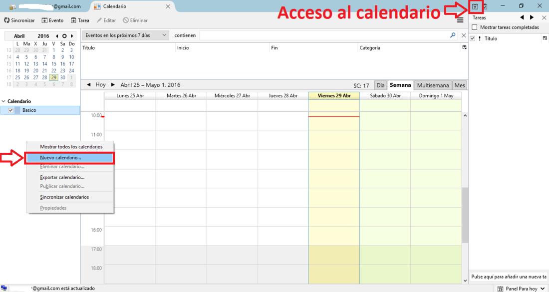 Añadir calendario de Google a Mozilla Thunderbird