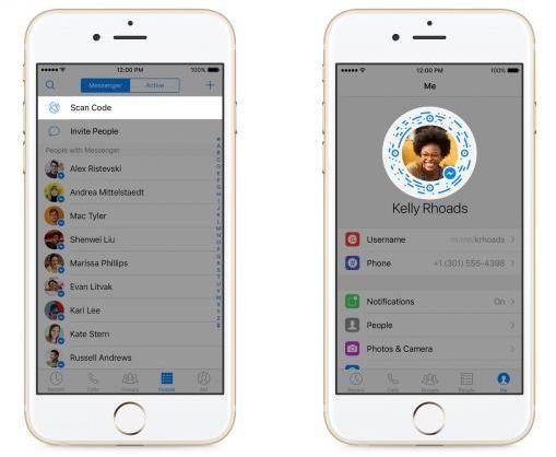 Anade amigos escaneando la foto de perfil de Facebook Messenger