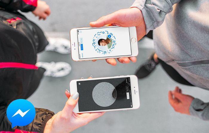 Añadir amigos en Facebook mesenger escaneando el código QR del a foto de perfil en iOS o Android