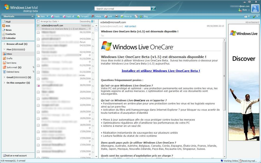 windows live mail descarga: