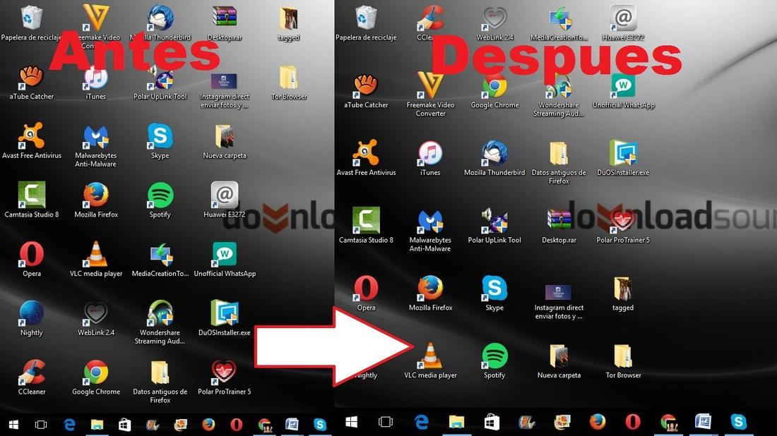 Como cambiar el tama o de los icono de la barra de tareas - Iconos para escritorio windows ...