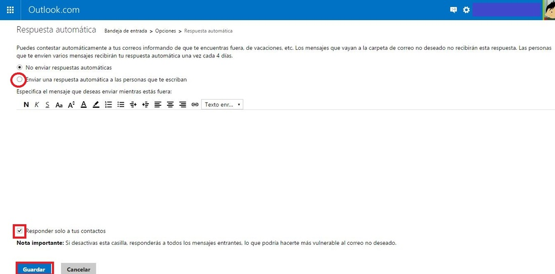 Como configurar una auto respuesta en los correos for Fuera de oficina gmail