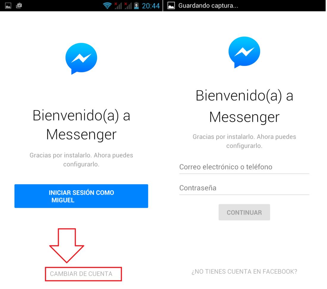 facebook iniciar sesion messenger