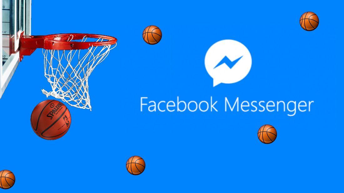 Jugar al baloncesto en messenger de Facebook para ios y Android