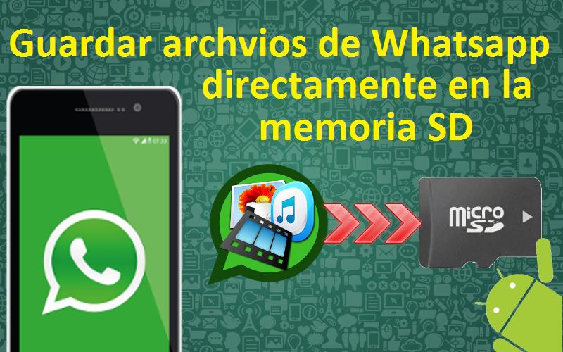 whatsapp en tarjeta de memoria
