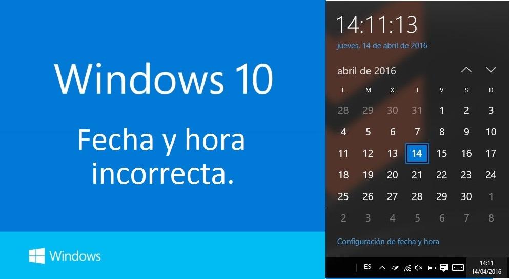 Resultado de imagen de fecha del equipo windows