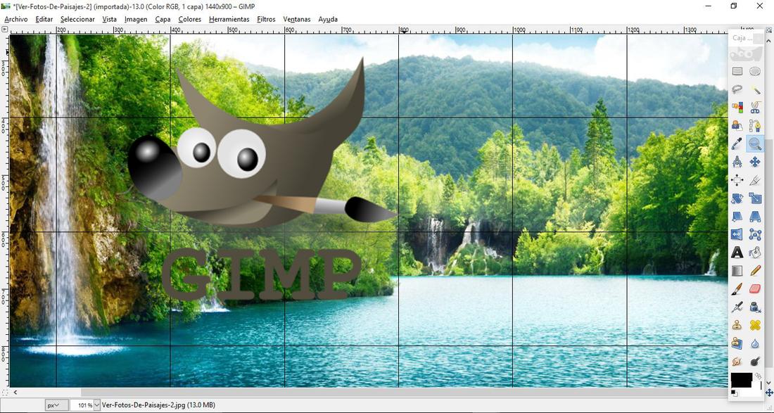 Como dividir y recortar una foto o imagen en partes iguales.(Gimp)