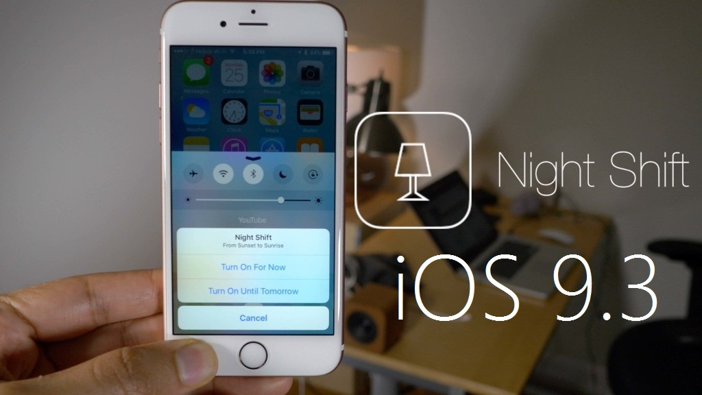 Activar, usar y configurar la función Night Shift de iOS 9 en iPhone o Ipad