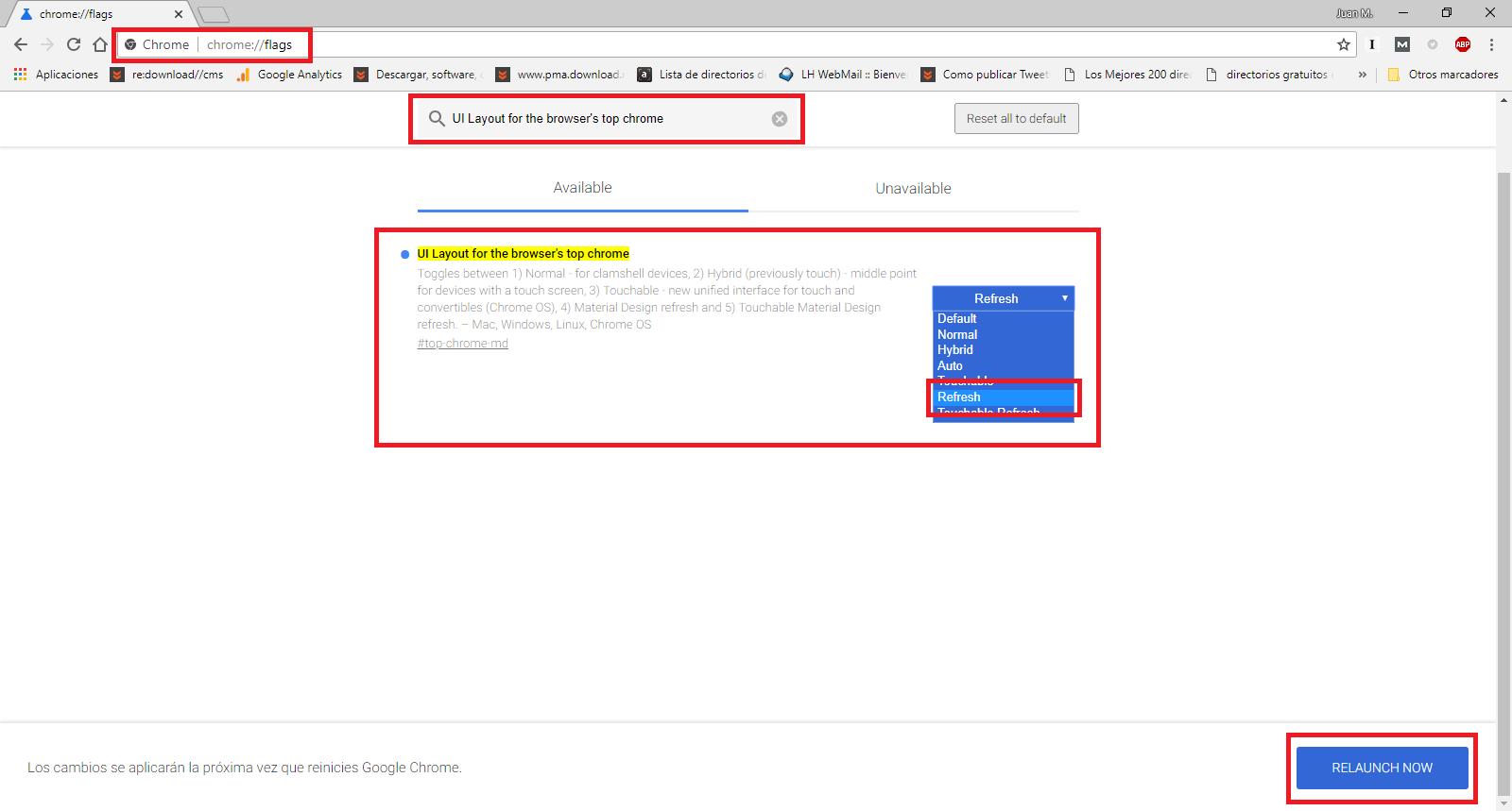 Como cambiar el diseño de Google Chrome en PC o iPhone