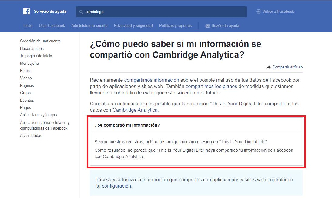 Facebook y el caso de Cambridge Analytica Comprueba%20si%20estas%20afectado%20por%20la%20filtraci%C3%B3n%20de%20datos%20de%20Facebook