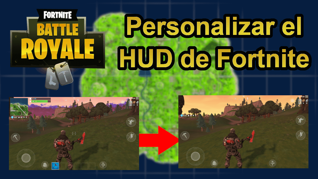 como personalizar la pantalla del juego fortnite en movil - codigo para editar fortnite