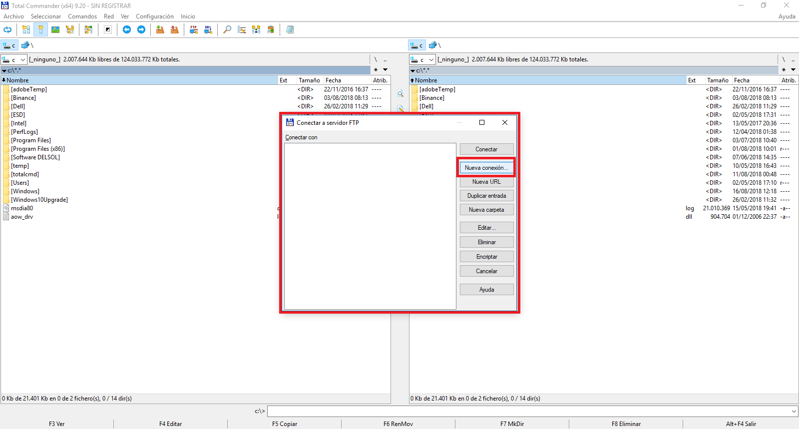 Como acceder a tu servidor FTP con Total Commander (Android