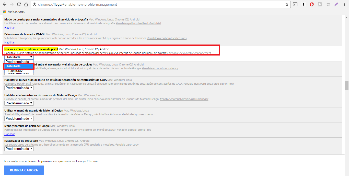 Como proteger tu perfil de Google Chrome mediante contraseña.