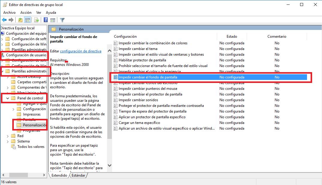 fondo de pantalla windows 10 regedit