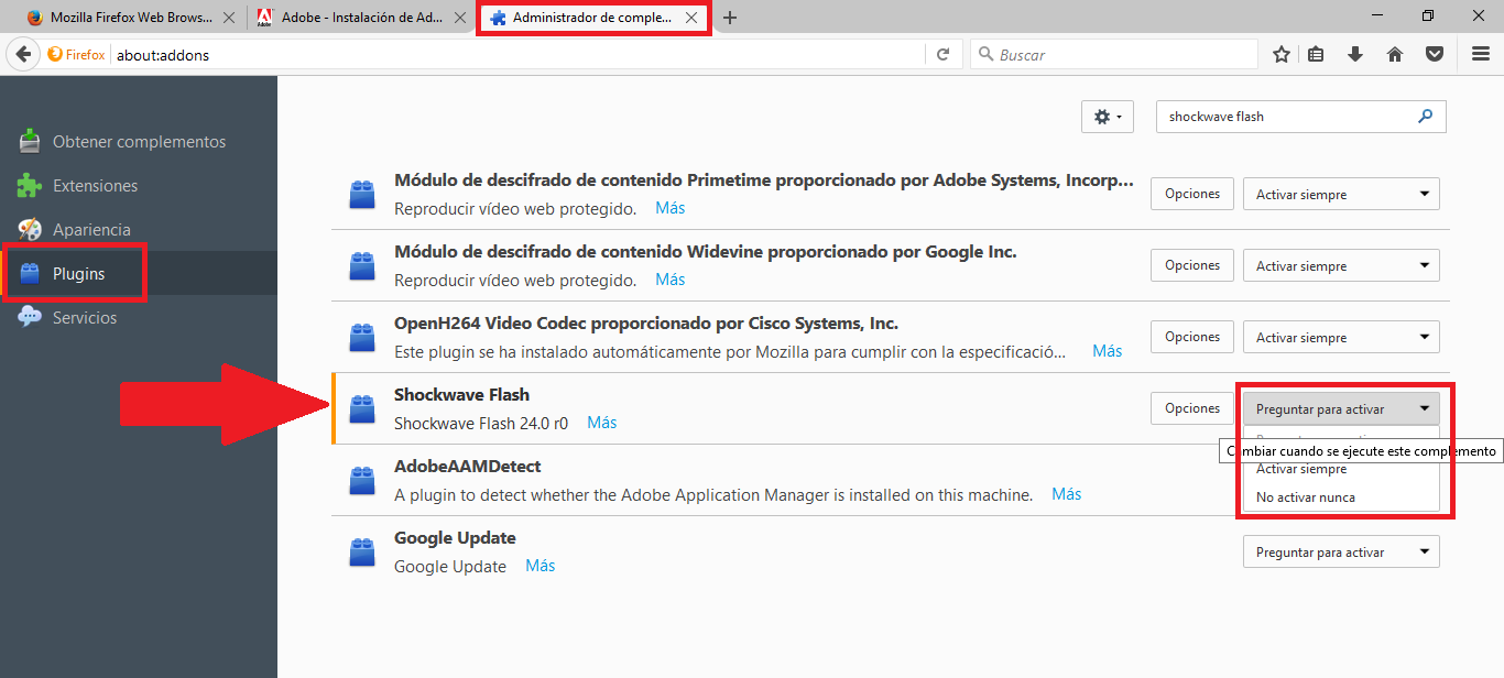 adobe flash downloader chrome