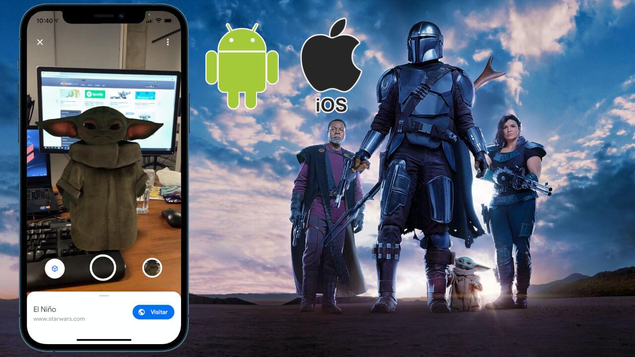 como ver a baby yoda desde tu iPhone o Android con google