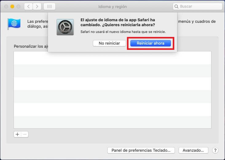 traducción nativa de safari en MacBook