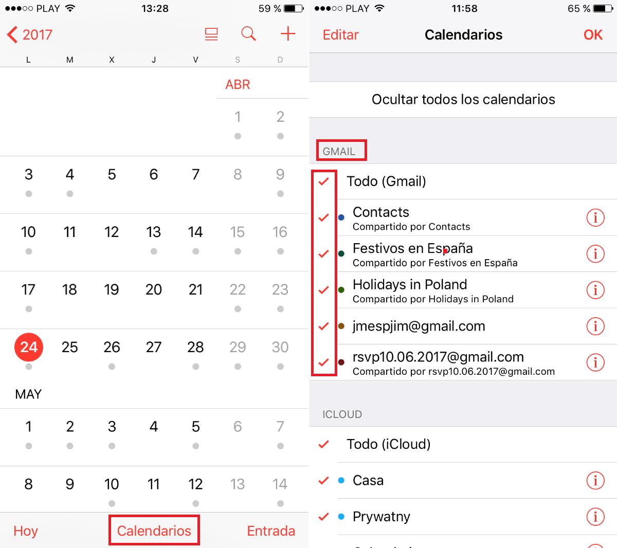 Anadir Calendario Iphone.Como Anadir El Calendario De Google A La App Calendario De