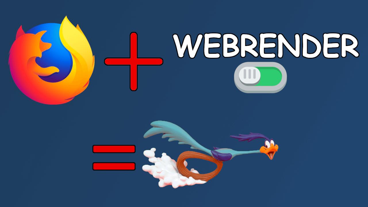 Cómo activar o desactivar la función WebRender en Firefox