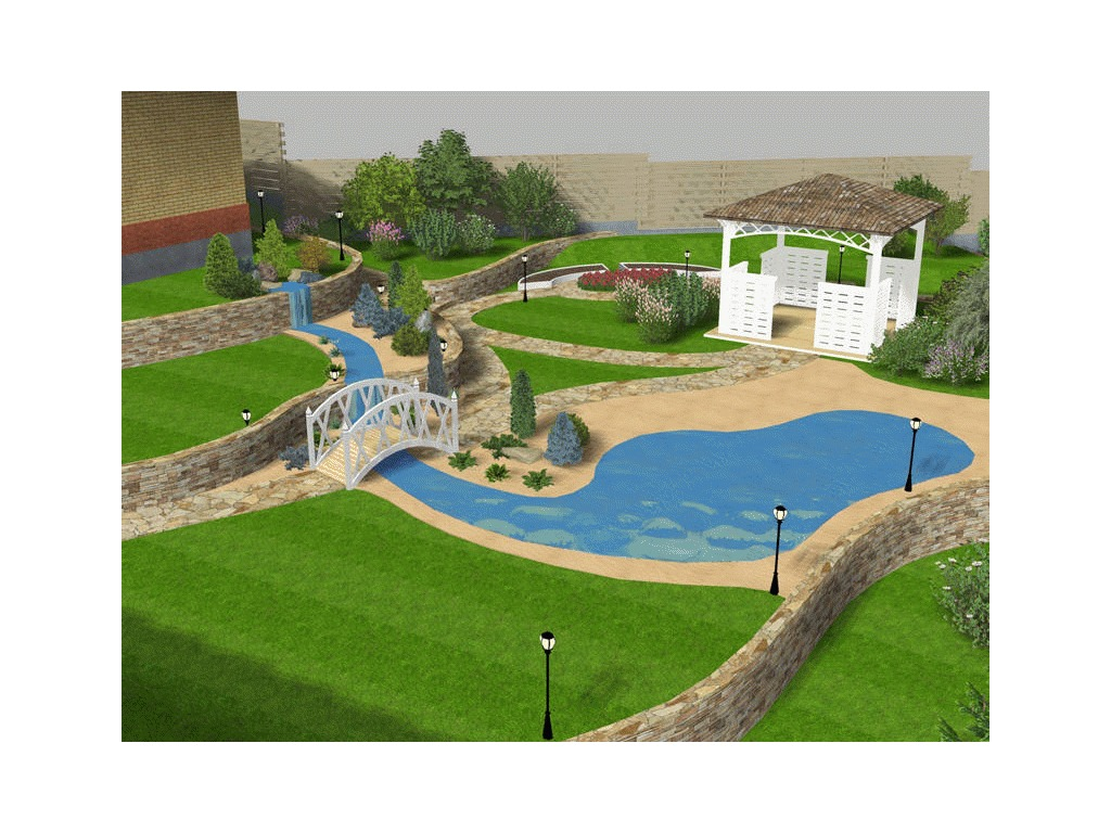 Garden composer 3d descargar dise o de jardines - Diseno jardines 3d ...