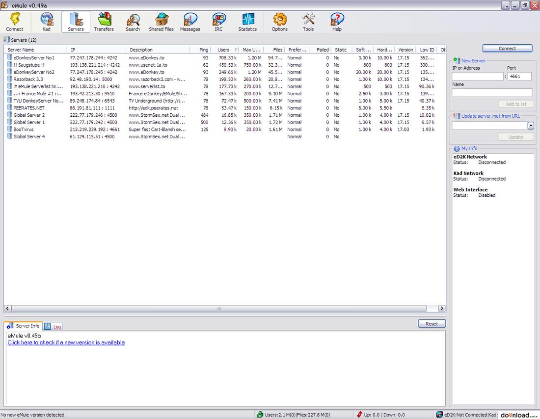emule no se conecta a ningun servidor windows 10
