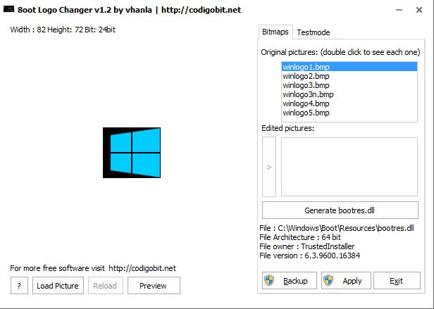 8oot Logo Changer | Descargar | Modificadores de aspecto del sistema